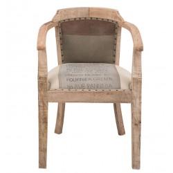 Krzesło z Podłokietnikami w Stylu Francuskim