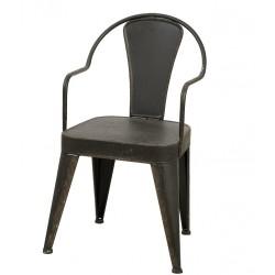 Krzesło Metalowe Loft Grafitowe