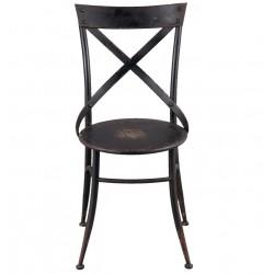 Krzesło Metalowe Loft Czarne Clayre & Eef