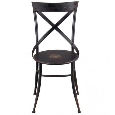 Krzesło Metalowe Loft Czarne