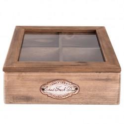 Drewniane Pudełko Prowansalskie Na Herbatę A