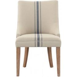 Krzesło Prowansalskie Beżowe z Pasem