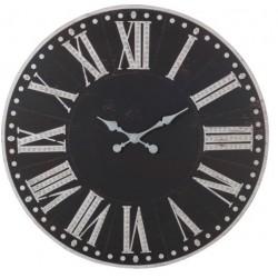 Duży Czarny Zegar Prowansalski