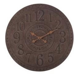 Zegar Ścienny Metalowy Brązowy B