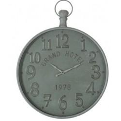 Zegar Ścienny Metalowy Szary B