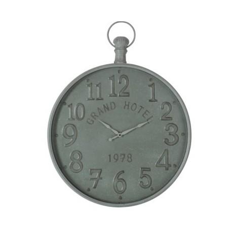 Zegar Ścienny Metalowy Brązowy A