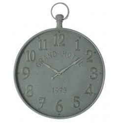 Zegar Ścienny Metalowy Szary A