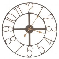 Metalowy Zegar Vintage Brązowy