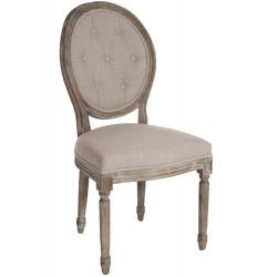 Krzesło Medalion Tapicerowane Prowansalskie C