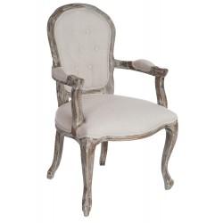 Krzesło Prowansalskie Tapicerowane z Podłokietnikami A