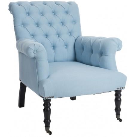 Fotel Prowansalski Błękitny
