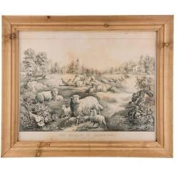 Obraz Prowansalski w Postarzanej Ramie A