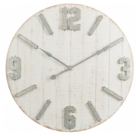 Duży Zegar z Metalowymi Cyframi B