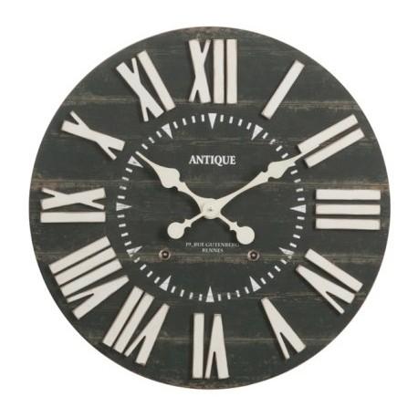 Duży Zegar z Metalowymi Cyframi A