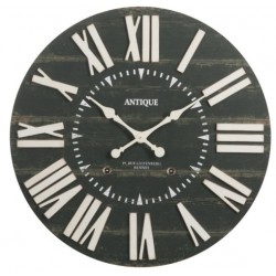 Czarny Zegar w Stylu Francuskim A