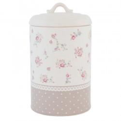 Ceramiczny Pojemnik Do Kuchni w Kwiatki A