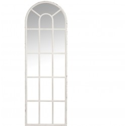Lustro Okno Białe Przecierane A