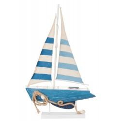 Dekoracja Marynistyczna Łódka Niebieska B
