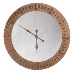 Duży Zegar Drewniany z Lustrem A