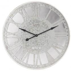 Duży Zegar Metalowy z Lustrem