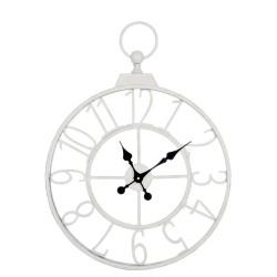 Metalowy Zegar Ażurowy Biały A