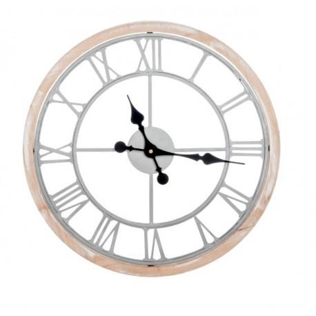 Metalowy Zegar Ażurowy Biały Duży