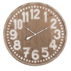 Drewniany Zegar Bielony Duży