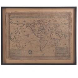 Obraz Vintage z Mapą Duży