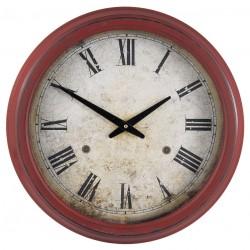 Zegar Retro Bordowy
