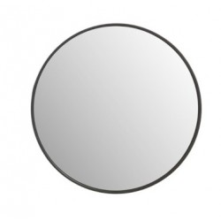 Okrągłe Lustro Ciemnobrązowe C