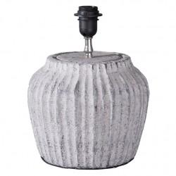 Lampa Stołowa Ceramiczna Szara A
