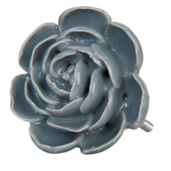 Gałki Meblowe Kwiat Szary