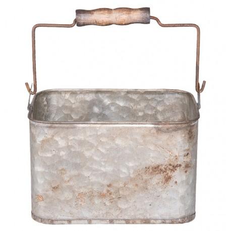 Metalowy Pojemnik Vintage z Rączką B