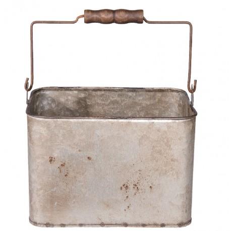 Metalowy Pojemnik Vintage z Rączką A
