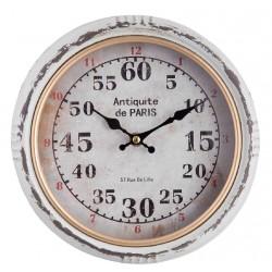 Zegar Postarzany Metalowy Paris