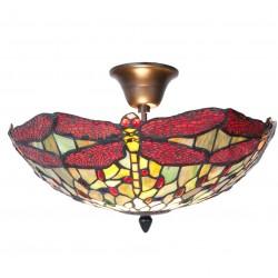 Lampa Tiffany Sufitowa Ważki
