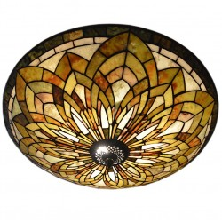 Sufitowa Lampa Tiffany Okrągła B