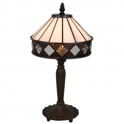Lampa Witrażowa Stołowa Pasy D