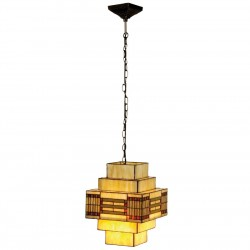 Lampa Witrażowa Sufitowa A