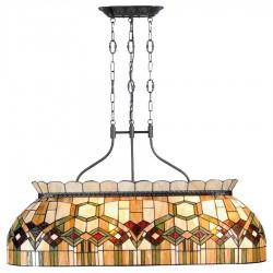 Lampa Witrażowa Sufitowa Długa A
