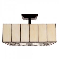 Lampa Tiffany Sufitowa Kwadratowa A