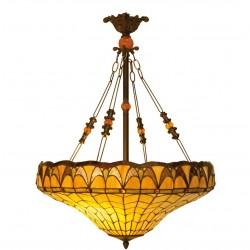 Lampa Tiffany Sufitowa Kwadratowa B