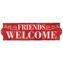 Metalowa Tablica Welcome Friends