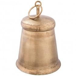 Złoty Dzwonek Metalowy Ozdobny B