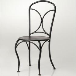 Krzesło Metalowe Prowansalskie Białe A