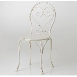 Krzesło Metalowe Prowansalskie Kremowe