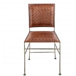 Krzesło Metalowe Skórzane