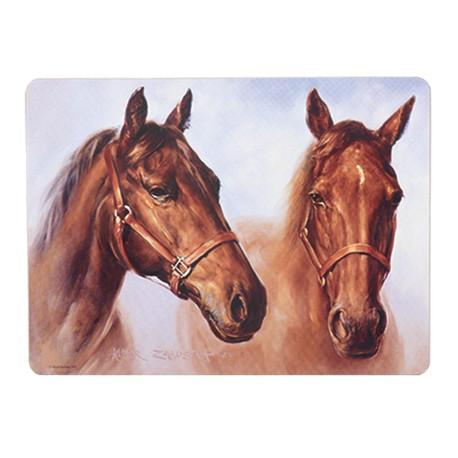 Zjawiskowe podkładki stołowe z wizerunkiem koni są doskonałe do kuchni i do restauracji.