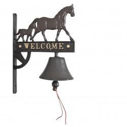 Dzwonek Żeliwny Do Zawieszenia Welcome z Kogutem A