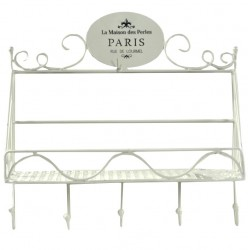 Półka w Stylu Francuskim Paris z Wieszakami